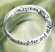 Dear Daughter, You Always Will Be Cherished Ring, Size 6  -