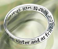 Dear Sister, You Always Will Be Cherished Ring, Size 8  -