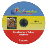 Grandmother's Virtues Interview Lapbook CDROM  -              By: Cyndi Kinney, Shelby Kinney