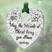 The Miracle of Christ - Mailable Ornament  -