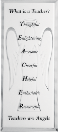 What is a Teacher Mirrored Plaque  -