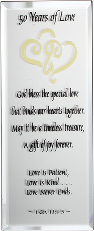 50 Years of Love Mirrored Plaque  -