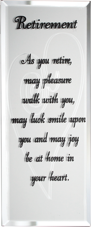 Retirement Mirrored Plaque  -