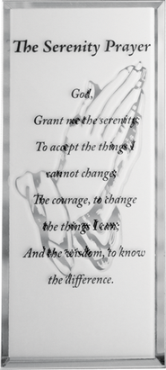 Serenity Prayer Mirrored Plaque  -