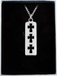 Cross Tag Pendant  -