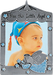 Bless This Little Angel Photo Frame, Angel Blue  -
