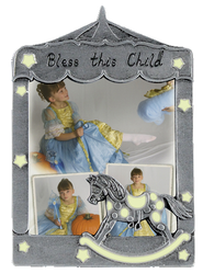 Bless This Little Angel Photo Frame, Rocking Horse Glow  -