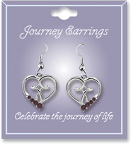 Journey Birthstone Earrings, January  -