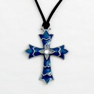 My Faith is Big and Bold Pendant, Blue  -