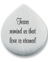 Tears Remind Us that Love is Eternal Photo Pocket Token  -
