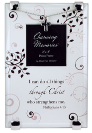 Philippians 4:13 Photo Frame w/Cross  -