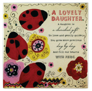 A Lovely Daughter Ceramic Tile  -