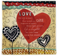 Love Ceramic Tile  -