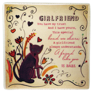 Girlfriend Ceramic Tile  -