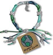 Respect the Earth, Express Yourself Cord Bracelet  -