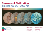 Streams of Civilization Timeline, 750 B.C.-2000 A.D.   -