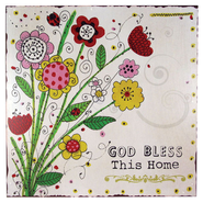 God Bless This Home Plaque  -