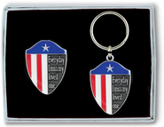 I Miss My Loved One, Patriotic Visor Clip and Keyring Set  -