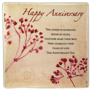 Happy Anniversary Ceramic Tile  -