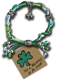 Tis a Blessing to Be Irish, Express Yourself Cord Bracelet  -