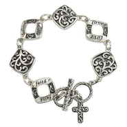 Filigree Bracelet with Cross  -