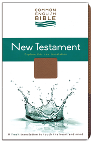 CEB Common English Bible New Testament DecoTone Tan/Chocolate Brown  -