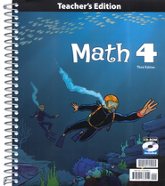 BJU Math Grade 4 Teacher's Edition with CD-ROM, 3rd Edition    -