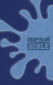 CEB Deep Blue Kids Bible, Soft leather-look, Midnight Splash   -