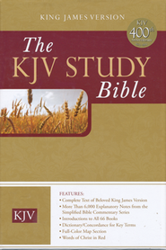 The KJV Study Bible Burgundy Bonded Leather   -
