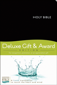 CEB Deluxe Gift and Award Bible Imitation Leather Black  -