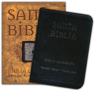 Biblia Compacta RVR 1960, Piel Elaborada Negra  (RVR 1960 Compact Bible, Bonded leather, Black)  -     By: Bible