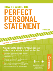 How to Write the Perfect Personal Statement - eBook  -     By: Peterson's