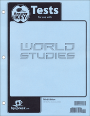 BJU World Studies Grade 7 Test Pack Answer Key, Third Edition    -