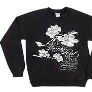 Give Thanks to the Lord, Sweatshirt, Black, Small  -