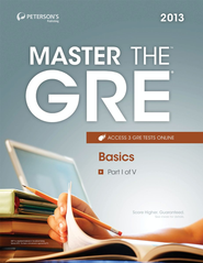 Master the GRE: Basics: Part I of V - eBook  -     By: Peterson's