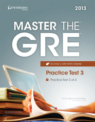 Master the GRE: Practice Test 3: Practice Test 3 of 4 - eBook  -     By: Peterson's