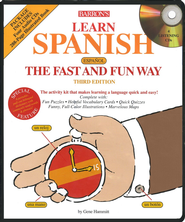 Learn Spanish the Fast and Fun Way, Third Edition--Book and CDs  -              By: Gene Hammitt