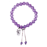 Fight Like a Girl Bracelet, Purple  -