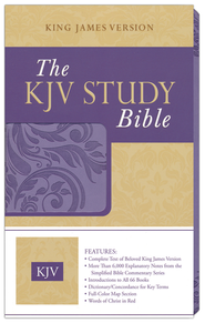 KJV Study Bible Imitation Leather, Purple  -