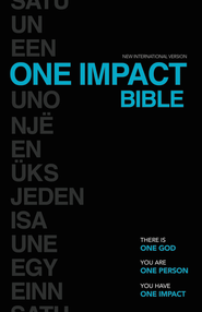 NIV One Impact Bible: One God. One Person. One Impact. / Special edition - eBook  -     By: Zondervan Bibles