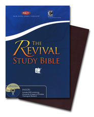 NKJV Revival Study Bible Burgundy Bonded Leather  -