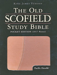 KJV Old Scofield Pocket Edition Pacific Duvelle Brown & Tan  -