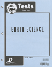 BJU Earth Science Grade 8 Test Pack Answer Key, 4th Edition    -