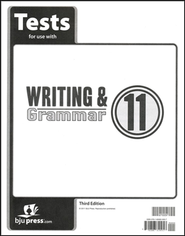 BJU Press Writing & Grammar Grade 11 Test Pack, Third Edition  -