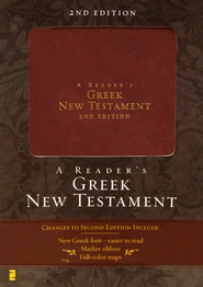 A Reader's Greek New Testament, 2nd edition - Italian Duo-Tone, Burgundy - Slightly Imperfect  -