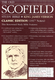 Old Scofield Study Bible Classic Edition, KJV, Bonded Leather burgundy Thumb-Indexed  -