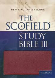 NKJV Scofield Study Bible, Reader's Edition, Bonded leather, Burgundy--Indexed  -