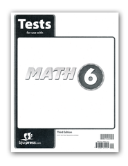 BJU Math Grade 6 Test Pack, Third Edition    -
