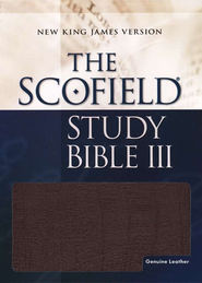 NKJV Scofield Study Bible, Reader's Edition, Genuine leather, Burgundy--Indexed  -