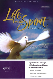 KJV Life in the Spirit Study Bible, Bonded Leather, Black (Previously titled The Full Life Study Bible)  -     By: Bible